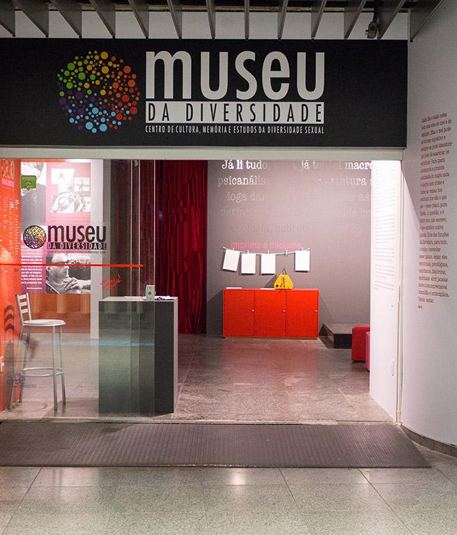 LGBTQIA+ São Paulo: entrada do Museu da Diversidade