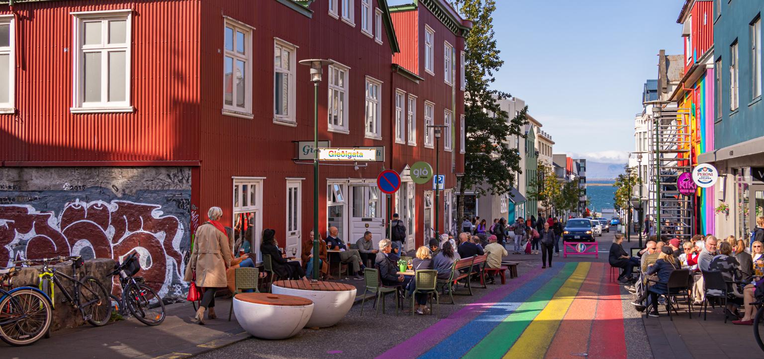 LGBT Islândia - Rua colorida Reykjavik